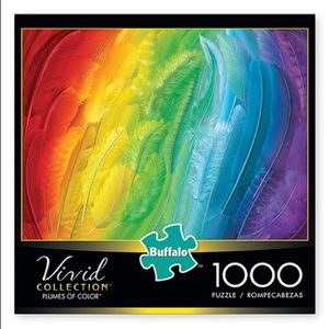 2/$20 Buffalo Games Plumes of Color puzzle